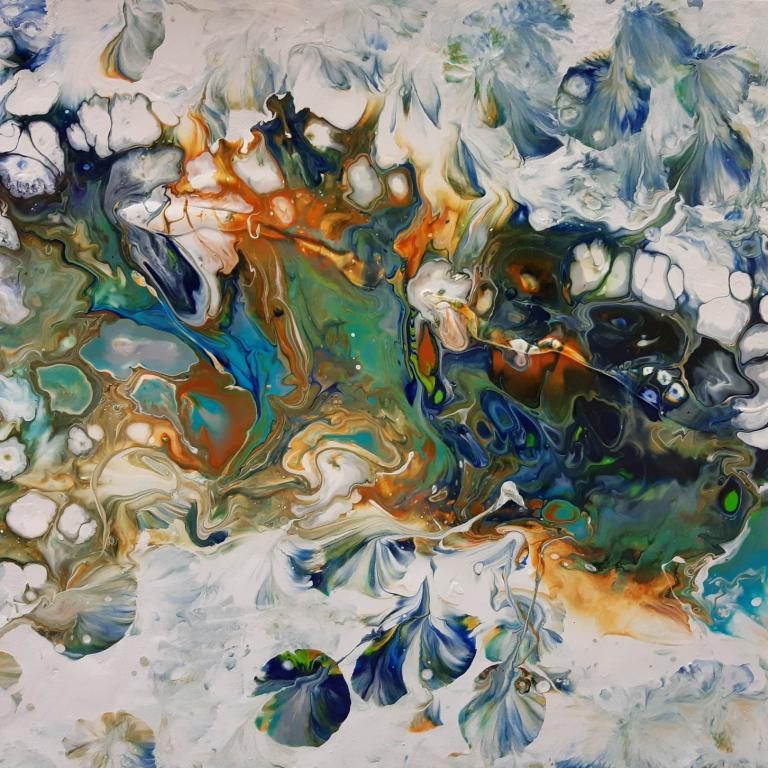 Acrylpouring copyright by Edeltraud Steurer